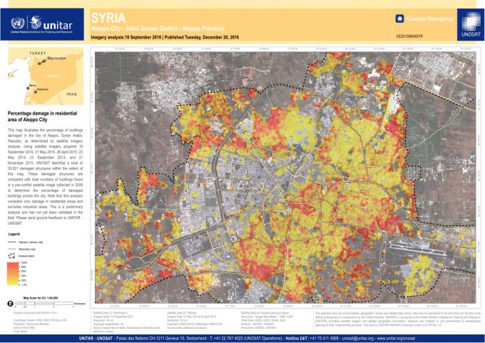 Photo of نسبة دمار حلب حسب صور الأقمار الصناعية
