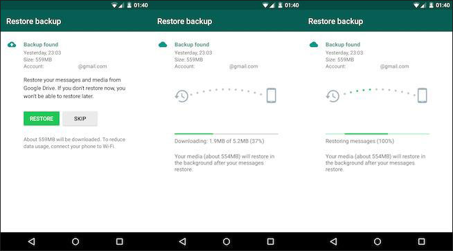 Change to WhatsApp Backups in Google Drive