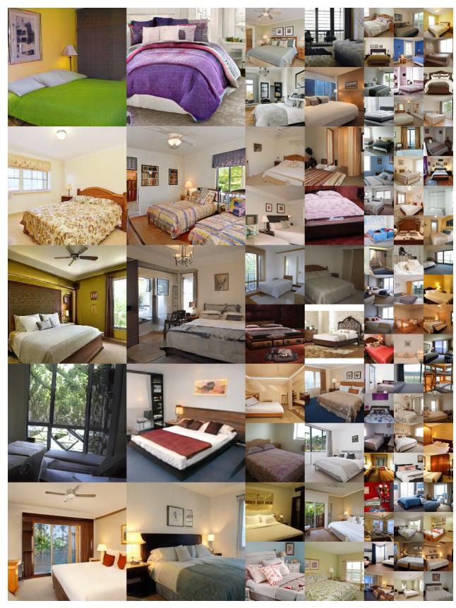 غرف نوم مولدة بالذكاء الصناعي