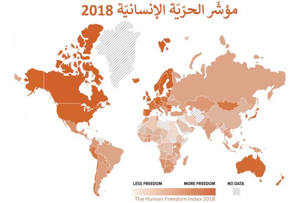 خريطة الحرية الإنسانية 2018