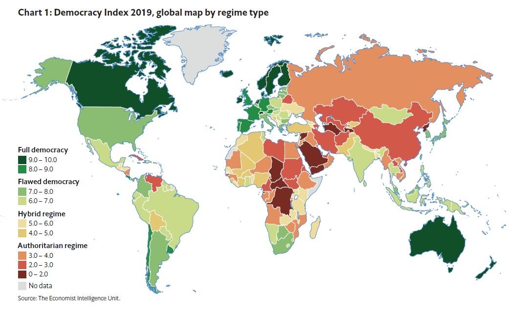 مؤشر الديمقراطية العالمي 2019