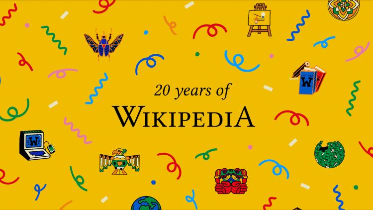 عيد ميلاد ويكيبيديا العشرين