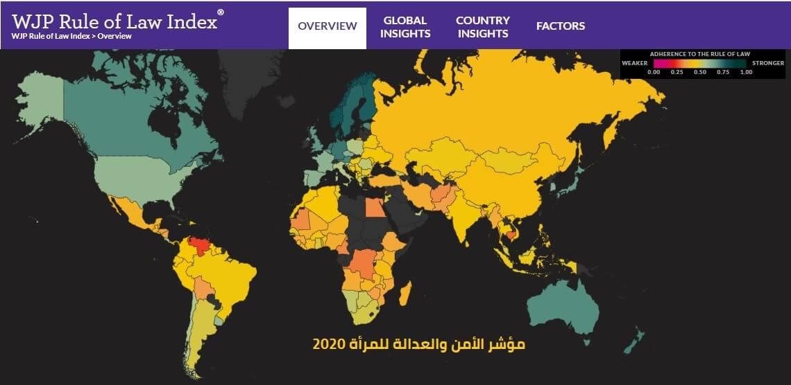 مؤشر الأمن والعدالة للمرأة 2020